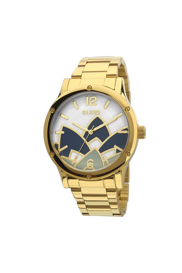 1f0266e8cc7 Relógio Euro Feminino Madrepérola Dourado - EU2035YCX 4D - Off Premium