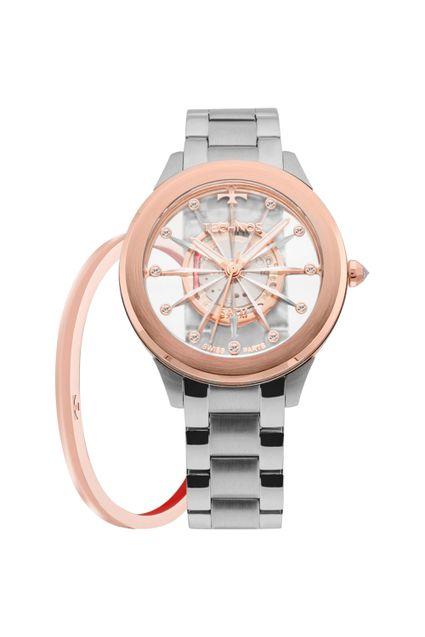 a245c1783f9 Relógio Technos Feminino Elegance Crystal Prata - F03101AB K1W
