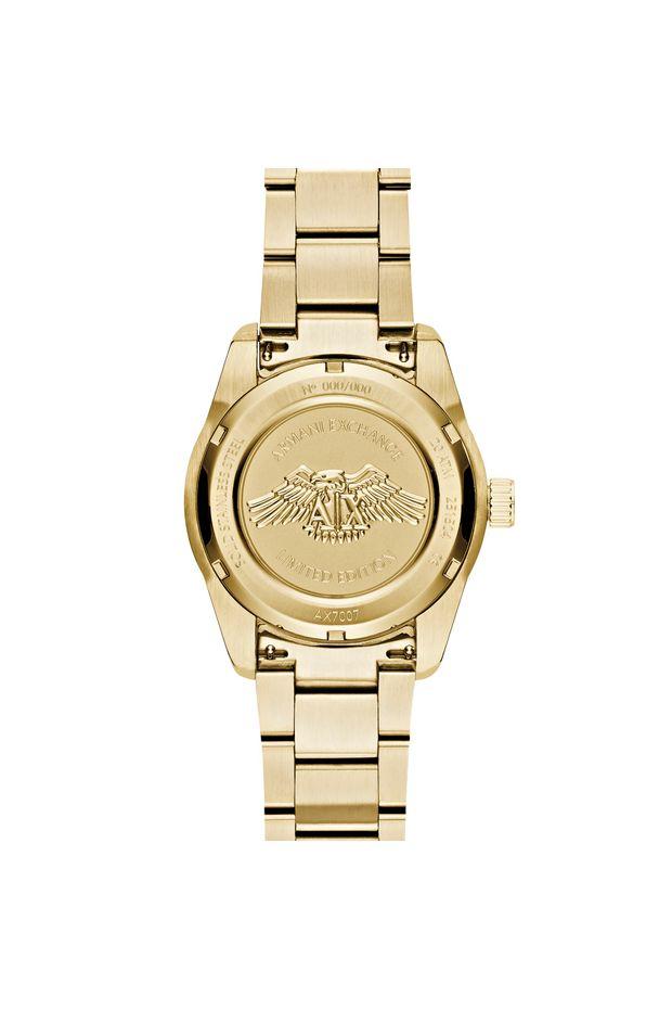a83db55fb7b Relógio Armani Exchange Masculino Dourado - AX7007 4PN - Off Premium