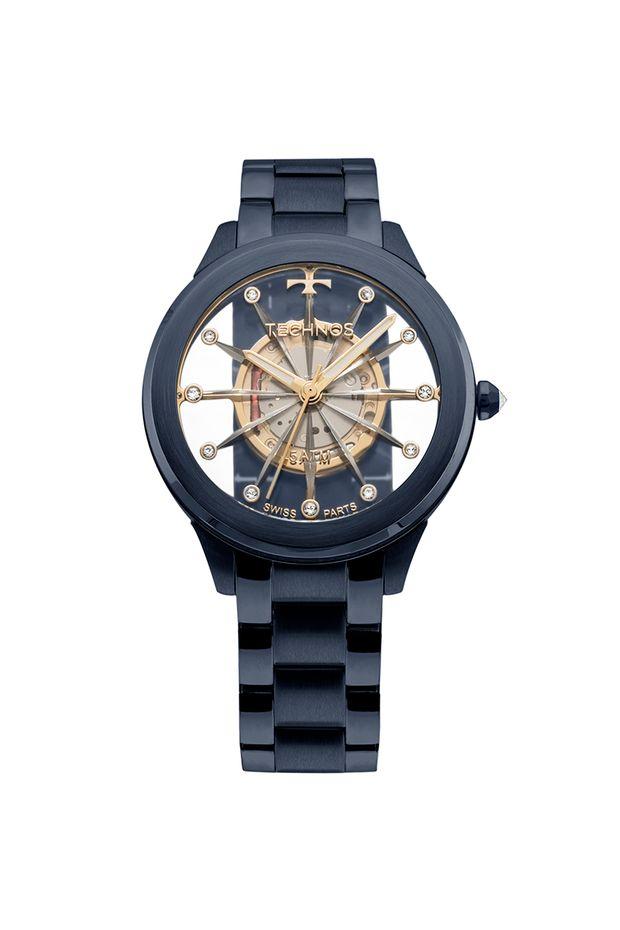 Relógio Technos Feminino Elegance Crystal Azul - F03101AD 4W - Off ... 0c6708f215