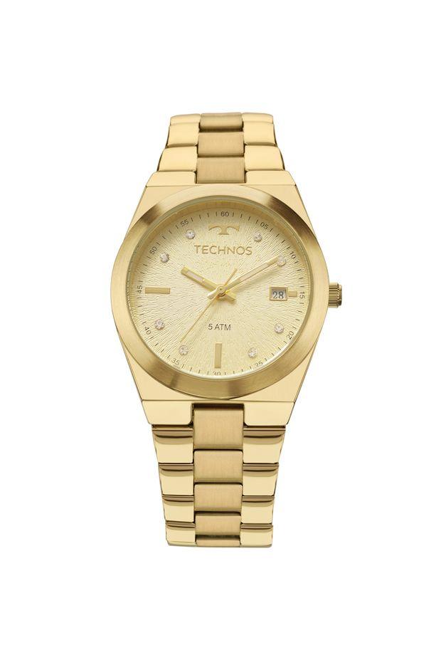 7727a99f51065 Relógio Technos Trend Feminino Dourado 2115KZR 4X - Off Premium