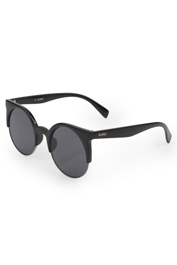 Óculos de sol Euro Gatinho Preto - OC189EU 8P - Off Premium a6a7982ac7