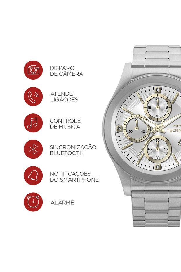 Relógio Technos Connect Prata SRAD 1P - Off Premium 58e02b29ca