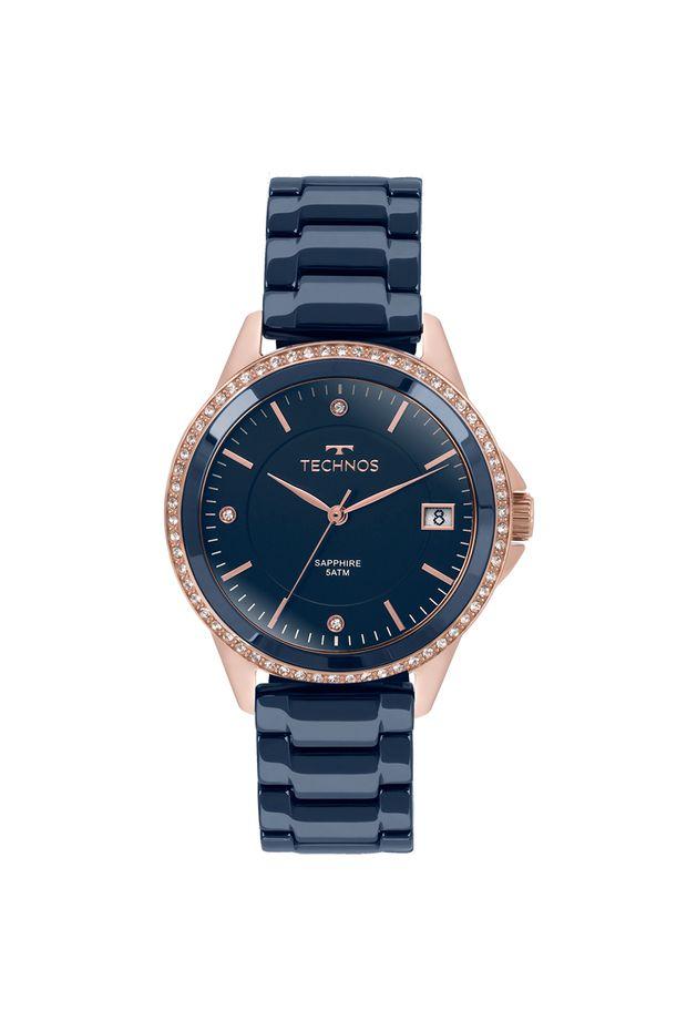 Relógio Technos Feminino Elegance Ceramic Saphire Rosé - 2315KZT 4A ... 526719702e