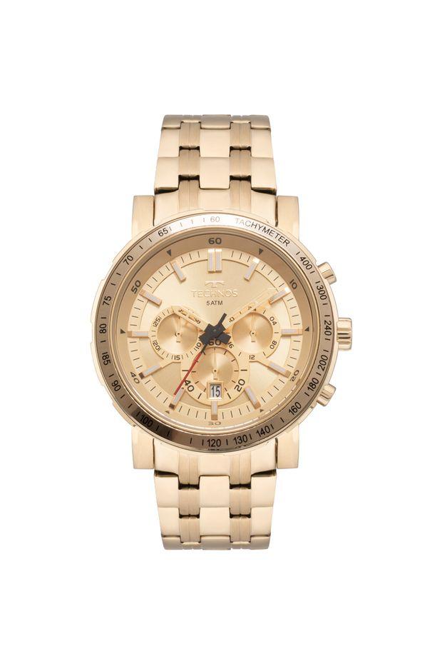 fa7331ca455fb Relógio Technos Masculino Skymaster Dourado - JS26AK 4X - Off Premium