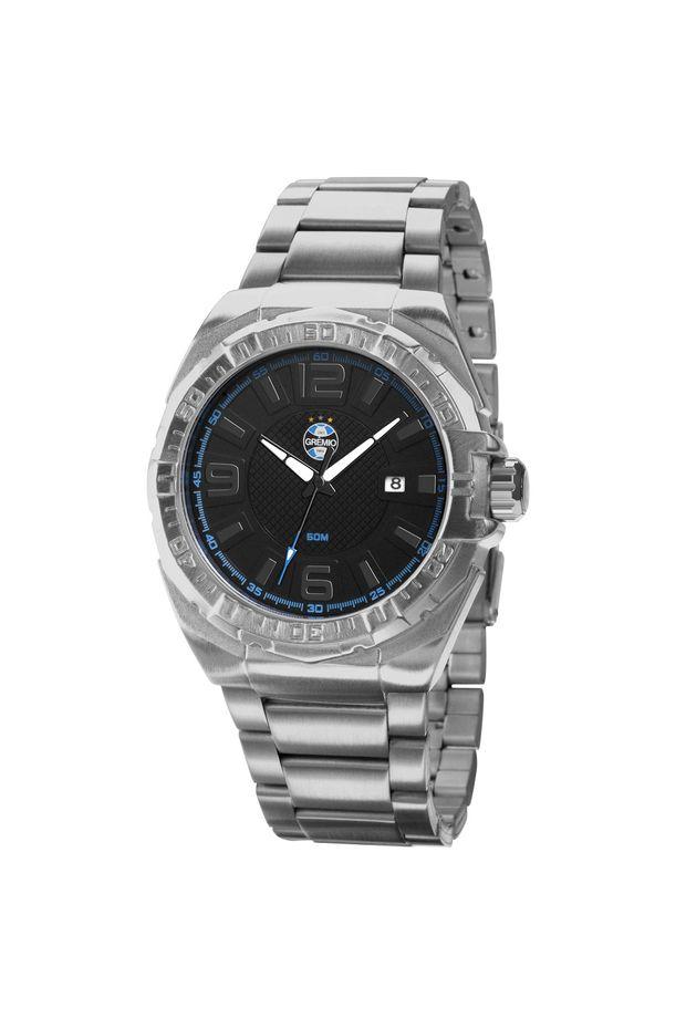 abd4d92a15a Relógio Masculino Analógico Grêmio Prata - GRE2315AB 3P - Off Premium