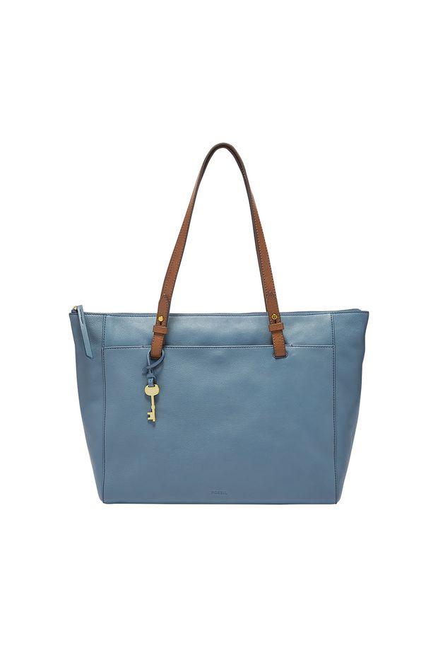 2312e3a230f6 Bolsa Fossil Feminina Rachel Azul - Off Premium