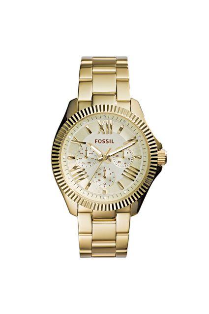 5e35013abaf Relógio Fossil Feminino Fossil Dourado AM4570 4DN
