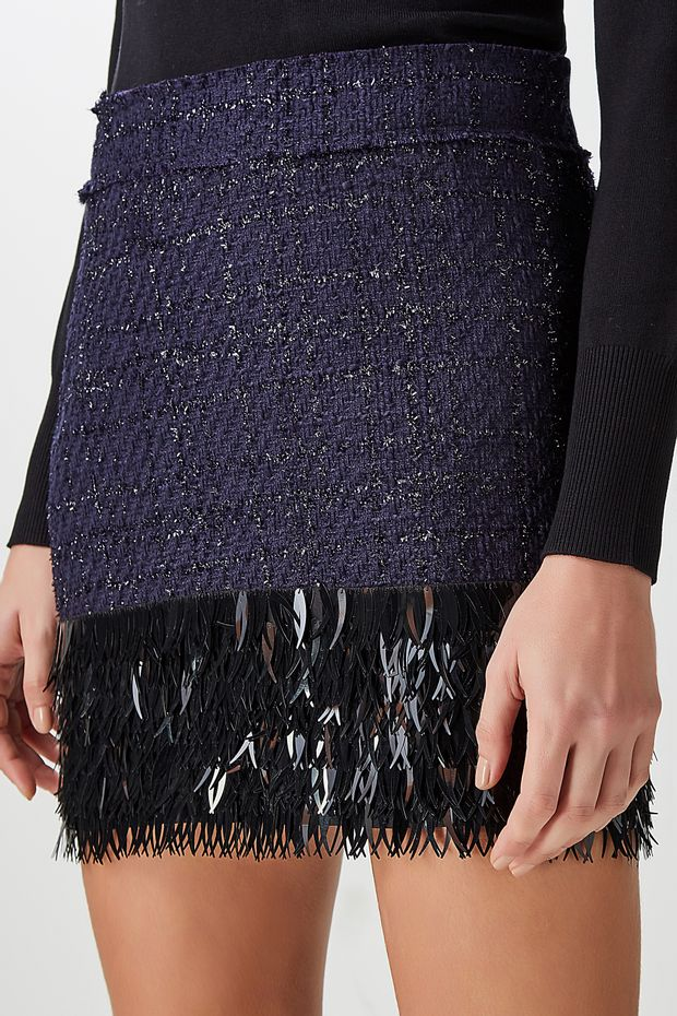 d1f83035050 Saia Tweed Franjas - Off Premium