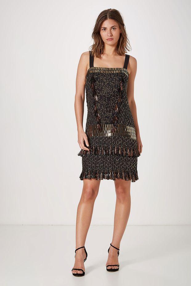 95af1e4b1 Vestido Curto Cos Placas - Off Premium