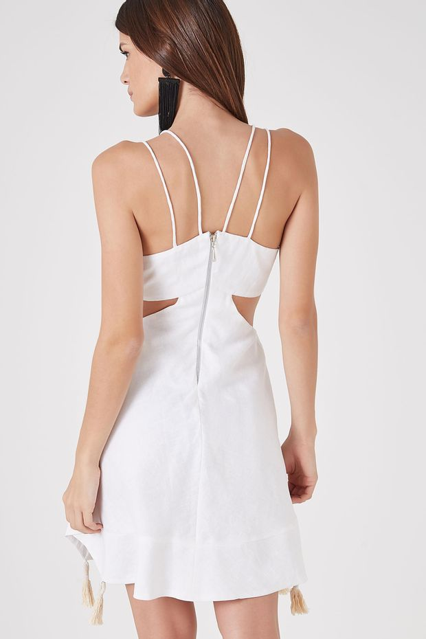 3a6d281f59 Vestido Curto Linho Branco - Off Premium