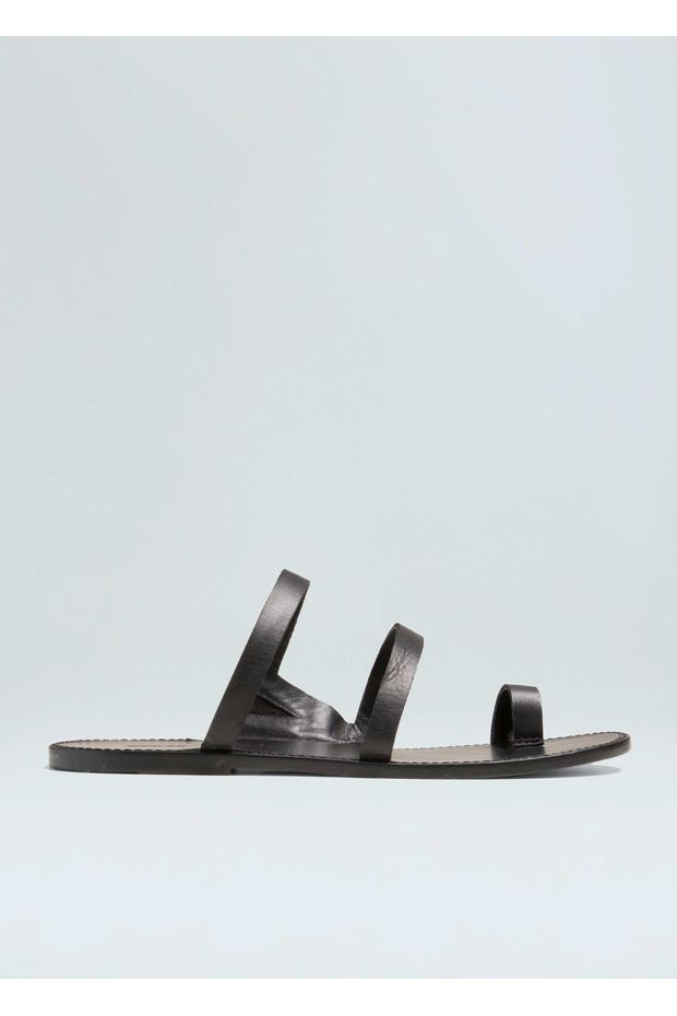 e66364f60 Sandalia Flat Couro - Off Premium