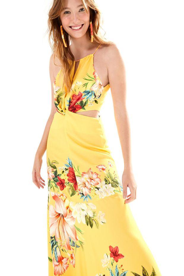 ed90605da96 Vestido Longo Floralia - Off Premium