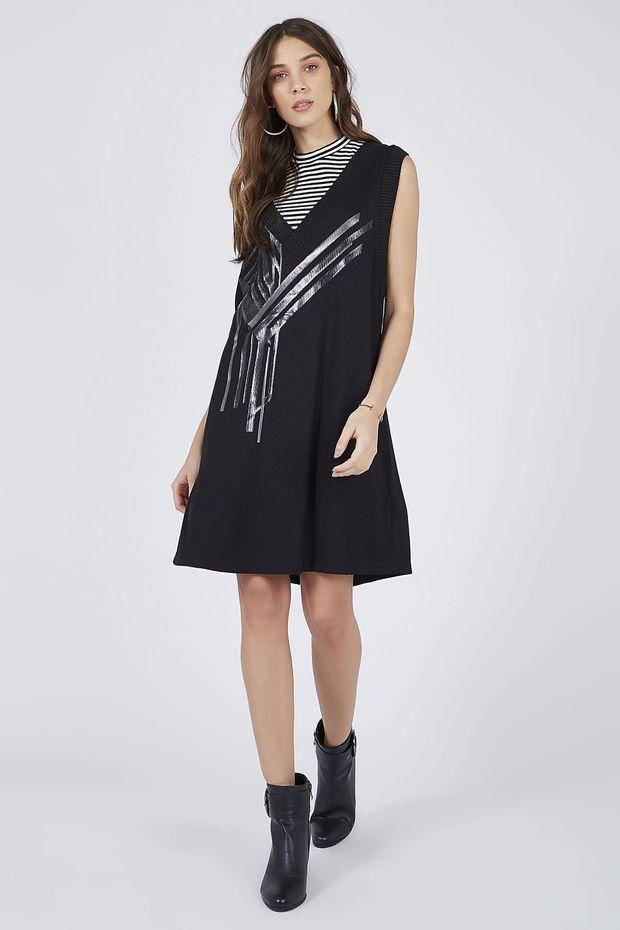 b6a57767f Vestido Malha Silk Composé Croppd - Off Premium