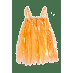 Fantasia Vestido Sol Amarelo - P