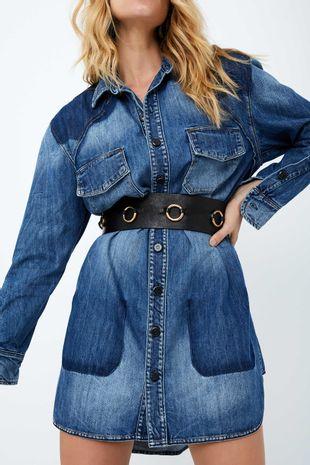 Camisa Feminina Social Jeans E Camisão Use Sem Moderação