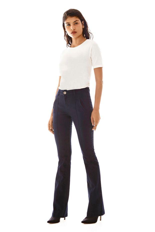 8cdf04df4 Calca Boot Cut Carol Cos Intermediario Com Nervuras Jeans - Off Premium