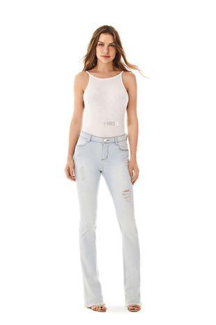 37402880b Calca Boot Cut Carol Cos Intermediario Delave Jeans