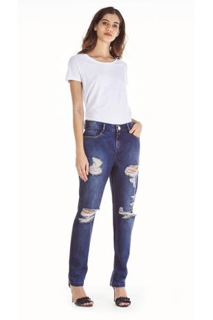 dd9f53f2b Calca Jeans Dani Cos Baixo Com Assinatura Jeans