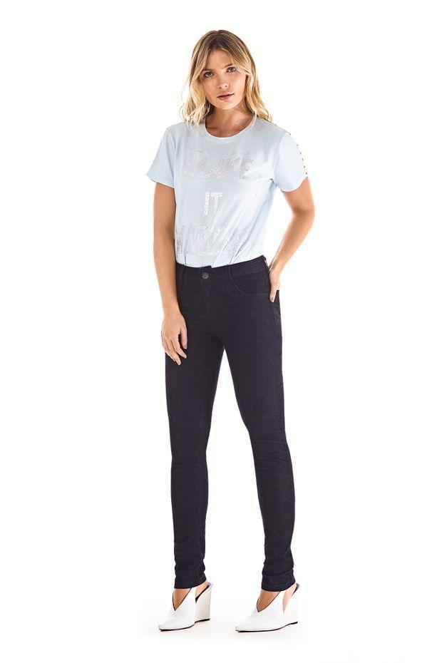 ad6807fe2f Calca Skinny Andreia Cos Intermediario Com Termocolante Jeans - Off ...