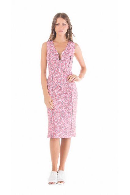 02b26d07e2 Vestido Curto Decote V Dupla Face Laranja Pink Azul