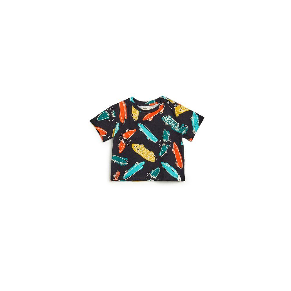 Camiseta Bb Malha Isamu Preto Est Isamu Preto - P