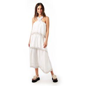Vestido Cruzado Camadas Off White