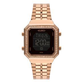 Relógio Euro Feminino Fashion Fit Diamond Rosé EUBJK032AA/4P EUBJK032AA/4P