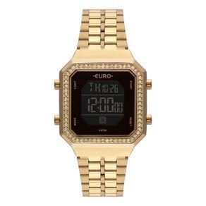 Relógio Euro Feminino Fashion Fit Diamond Dourado EUBJK032AB/4P EUBJK032AB/4P