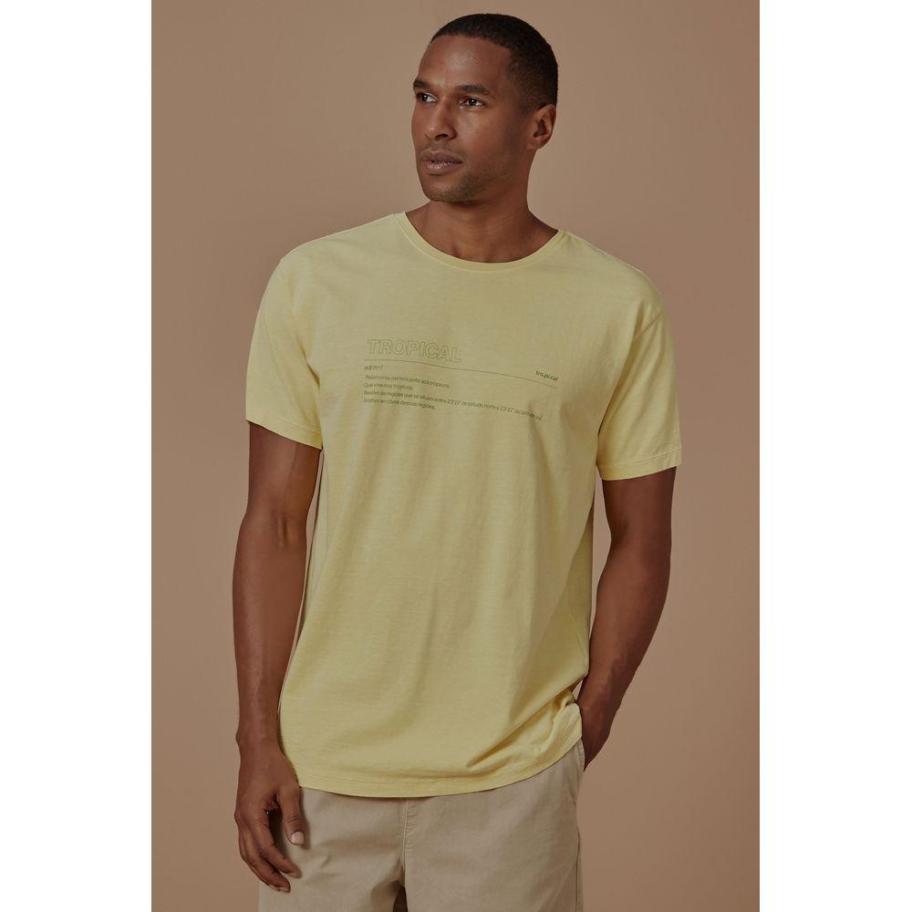 T-Shirt Traducao Tropical Amarelo - P