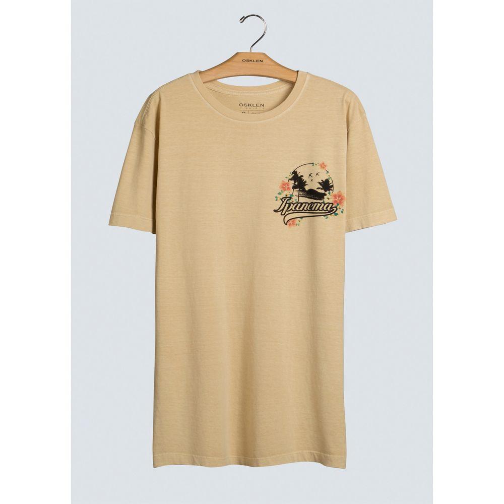 T-Shirt Stone Vintage Ipanema-Amarelo Claro - P