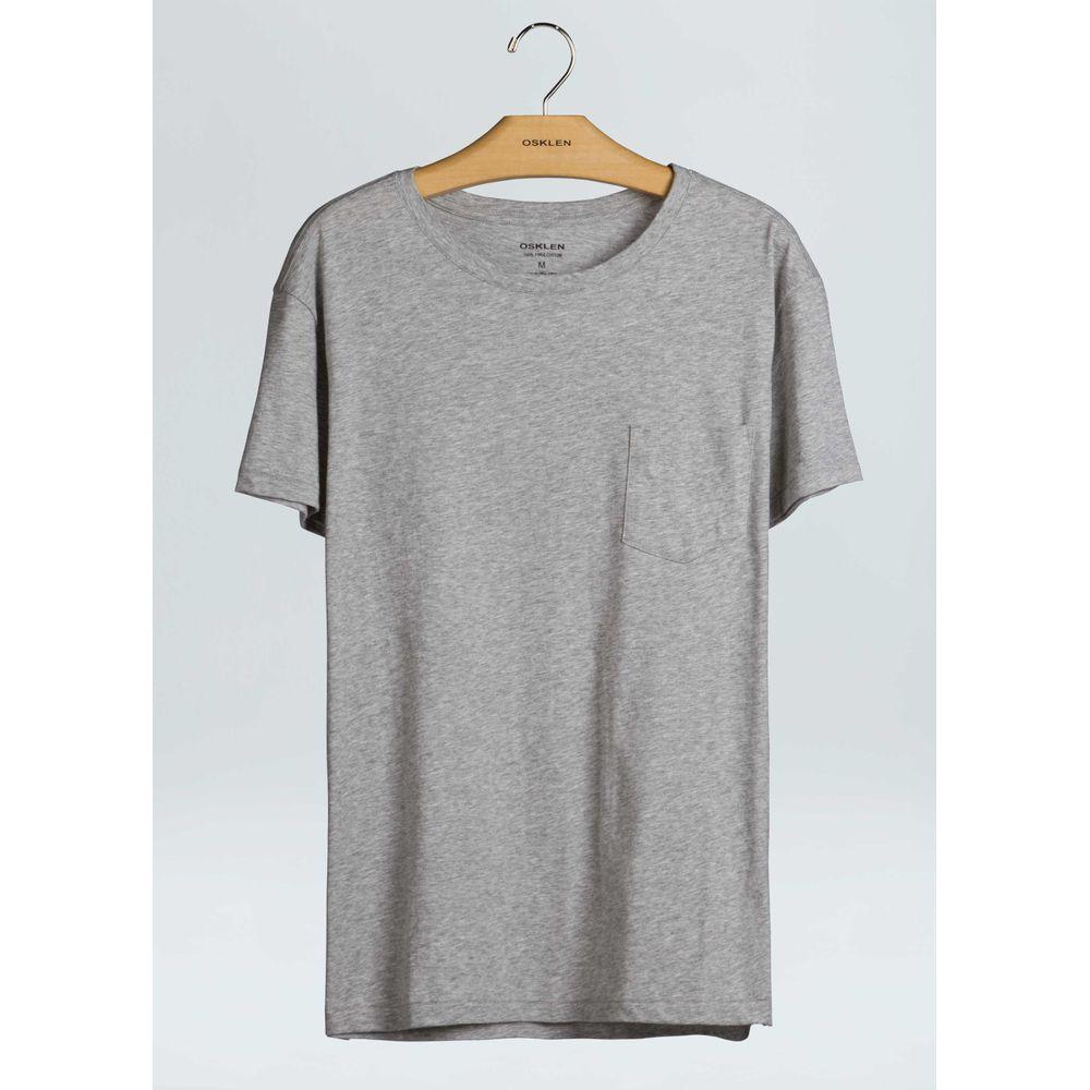 T-Shirt Supersoft Pocket-Cinza Mescla - GG
