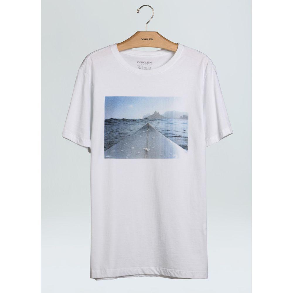 T-Shirt Stone Vintage Board Tip-Branco - GG