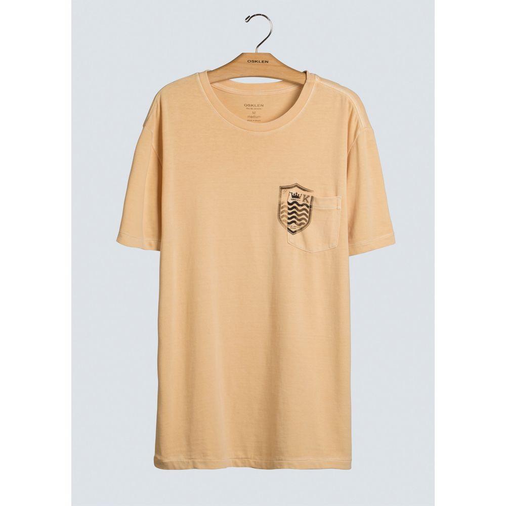 T-Shirt Bolso Brasao Mc-Amarelo Claro - G