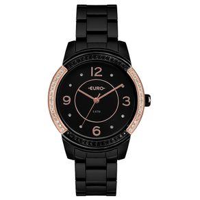 Relógio Euro Feminino Color Mix Glam Preto EU2036YMQ/4P EU2036YMQ/4P