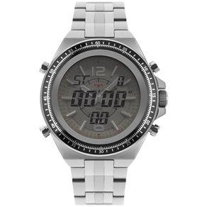 Relógio Technos Ts Anadigi Masculino Prata 2035MOS/1B 2035MOS/1B