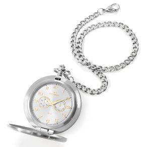 Relógio Technos Masculino Heritage Prata VD77AD/1K VD77AD/1K