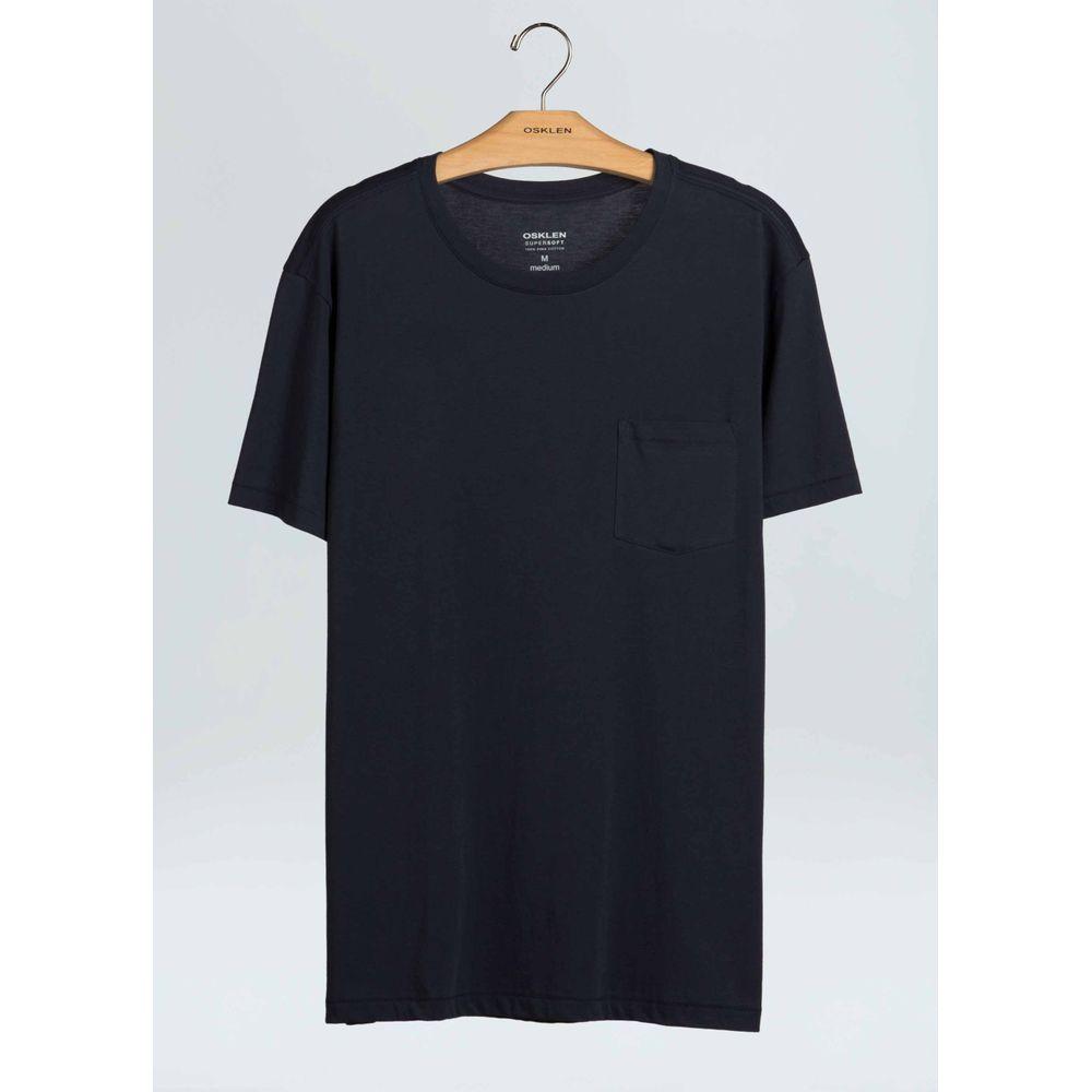 T-Shirt Supersoft Pocket-Marinho - P
