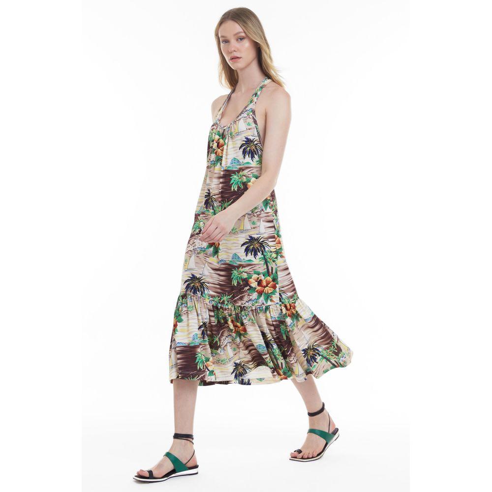 Vestido Floral Grumari Original Est Paisagem Veleiro