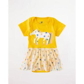Body Saia Silk Uni Amarelo Amarelinha - P