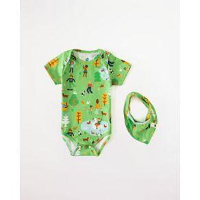Body Presentinho Pique-Nique Est Pique Nique Verde - P